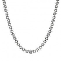 4.5mm Stainless Steel Weave Pattern Chain Link Necklace