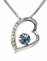 Dahlia Women's Pendant Necklace - Stylish Heart with Swarovski Elements Crystal