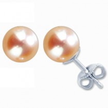 5.5-6mm 14k Gold Cultured Pearl Stud Earrings - Various Color and Metal Options