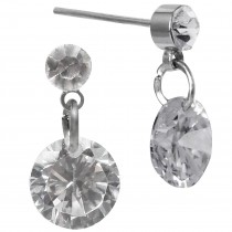 Classic Royal Style Cubic Zirconia Drop Earrings