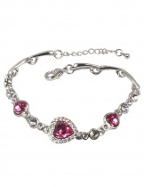 Dahlia Women's Bracelet - Heart Shaped Swarovski Elements Crystal