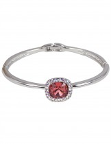 Dahlia Women's Bracelet - Princess Swarovski Elements Crystal Bangle