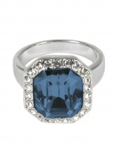 Dahlia Women's Ring - Emerald Cut Swarovski Elements Crystal