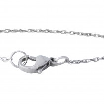 1.3mm Silver-Tone Stainless Steel Double Cable Chain Necklace