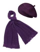 Dahlia Women's Scarf and Beret Hat Set - Super Soft