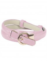 Dahlia Women's Adjustable Skinny Belt with Interlocking Circle Buckle