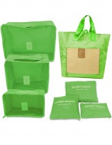 Dahlia 7pc Set Travel Organizers - Packing Cubes and Foldable Tote