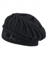 Dahlia Women's Angora Blend Beanie Hat - Spiral Twist Pattern