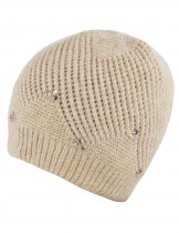 Dahlia Women's Angora Blend Beaded Slouch Beanie Winter Hat Dual Layer