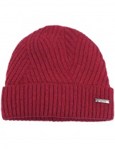 Dahlia Men's Wool Blend Beanie Hat - Warm Velour Lined Twill Weave