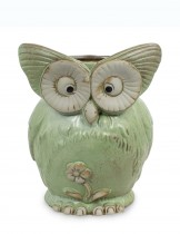 Dahlia Cute Owl Handmade Ceramic Succulent Planter/ Plant Pot/ Flower Pot/ Bonsai Pot