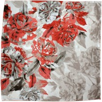 100% Luxury Square Silk Scarf - Abstraction Rose