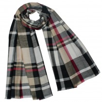 Casual Chic Plaid Stripes Viscose Long Scarf