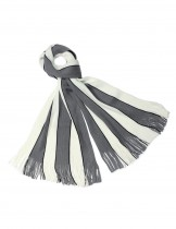 Dahlia Men's Acrylic Long Scarf - Vertical Awning Stripes