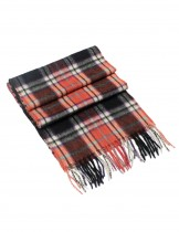 Dahlia Men's 100% Soft Wool Scarf - Plaid - Red Black