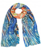 "Dahlia Women's 100% Long Silk Scarf - Edvard Munch ""The Scream"""