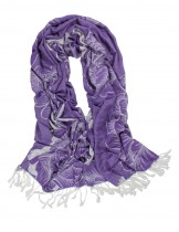 Dahlia Women's Rayon Scarf Shawl - Reversible Large Peony Flowers