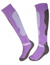Dahlia Women's Ski Socks - Camo Purple