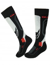 Dahlia Men's Ski Socks - Glissade Black/Orange