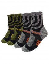 Dahlia Men's Winter Socks - Striped Bottom 2 Pairs - Gray Green
