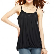 Dazzling Pleated Smocked Waist Tank Top