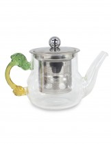 Dahlia 10oz Clear Glass Teapot (Tea Pot with Removable Stainless Steel Strainer and Lid), #1