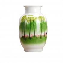 Dahlia Chinese Porcelain Hand Painted Meadow Decorative Large Vase